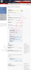Заповнення анкети DS-160. Всіконтакти: адреса, номери телефонів, пошта, соціальні мережі (Address and Phone Information)
